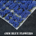 4mm Blue Flowers Static Grass Tufts