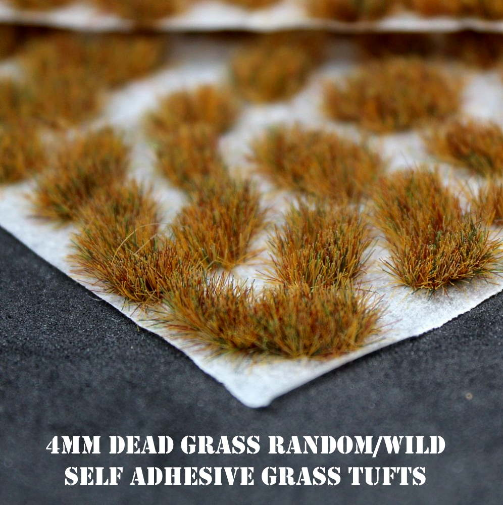 4mm Dead Grass Random/Wild Self Adhesive Static Grass Tufts
