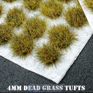 Warpaint Figures | 120 x 4mm Dead Grass Self Adhesive Static Grass Tufts for Wargaming, Wargames, Terrain, Scenery, Painted Miniatures, Warhammer 40K, AOS, Bolt Action