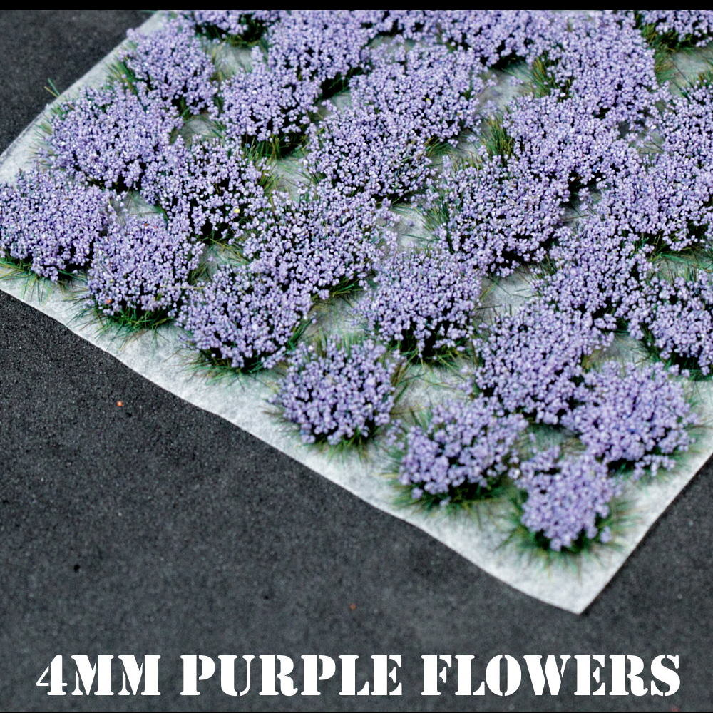 4mm Purple Flowers Static Grass Tufts