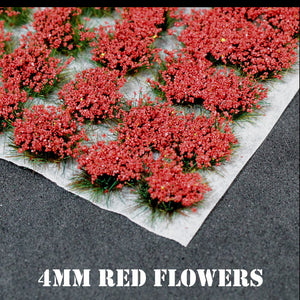 4mm Red Flowers Static Grass Tufts
