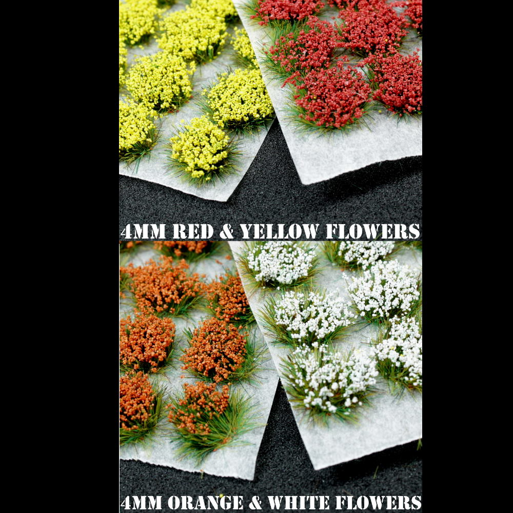 4mm Spring Mix Flowers Static Grass Tufts