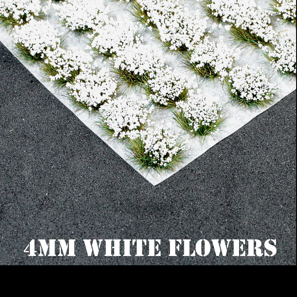 4mm White Flowers Static Grass Tufts