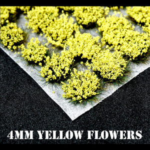 4mm Yellow Flowers Static Grass Tufts