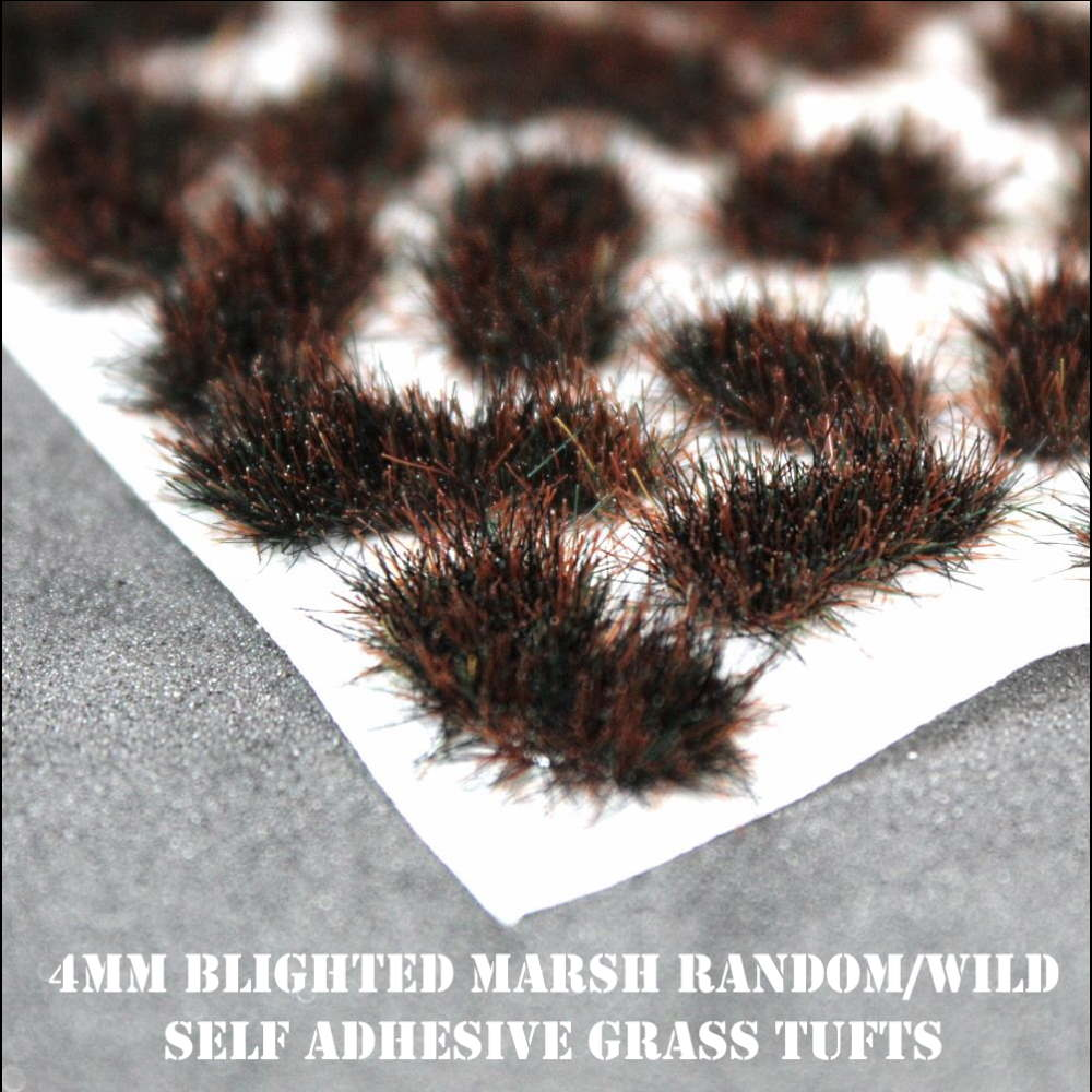 4mm Scorched Grass Random/Wild Self Adhesive Static Grass Tufts