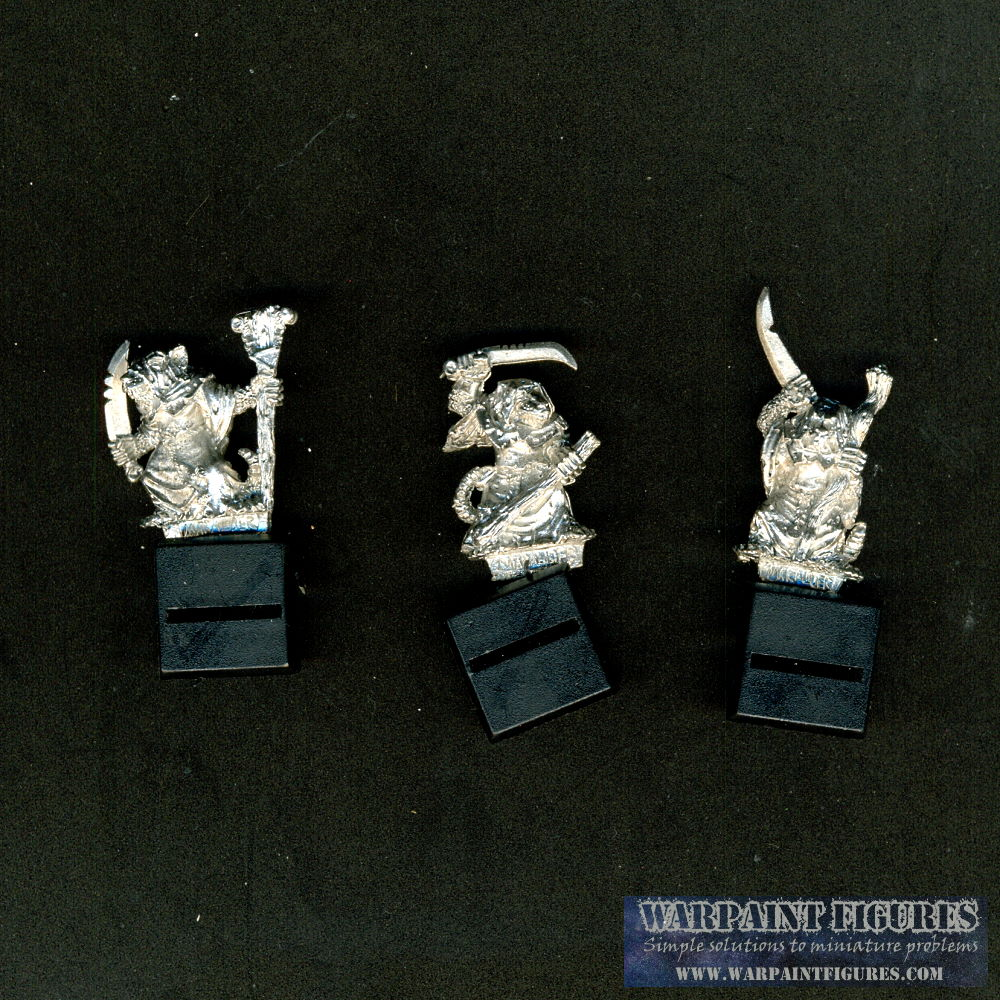 Warpaint Figures - 1992 WFB Skaven Plague Monks x 3
