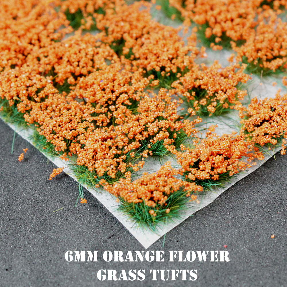 6mm Orange Flowers Static Grass Tufts