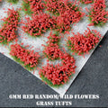 6mm Red Flowers Static Grass Tufts