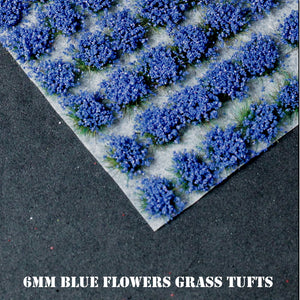 6mm Blue Flowers Static Grass Tufts