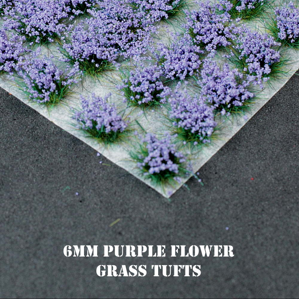 6mm Purple Flowers Static Grass Tufts