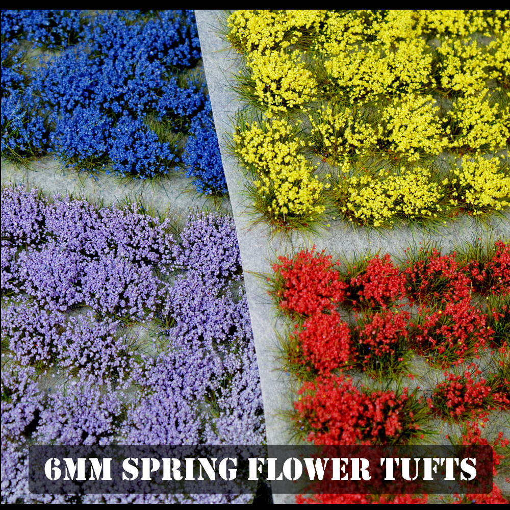 Self Adhesive Static Grass Tufts for Miniature Scenery-Lavender Wildflowers 6mm