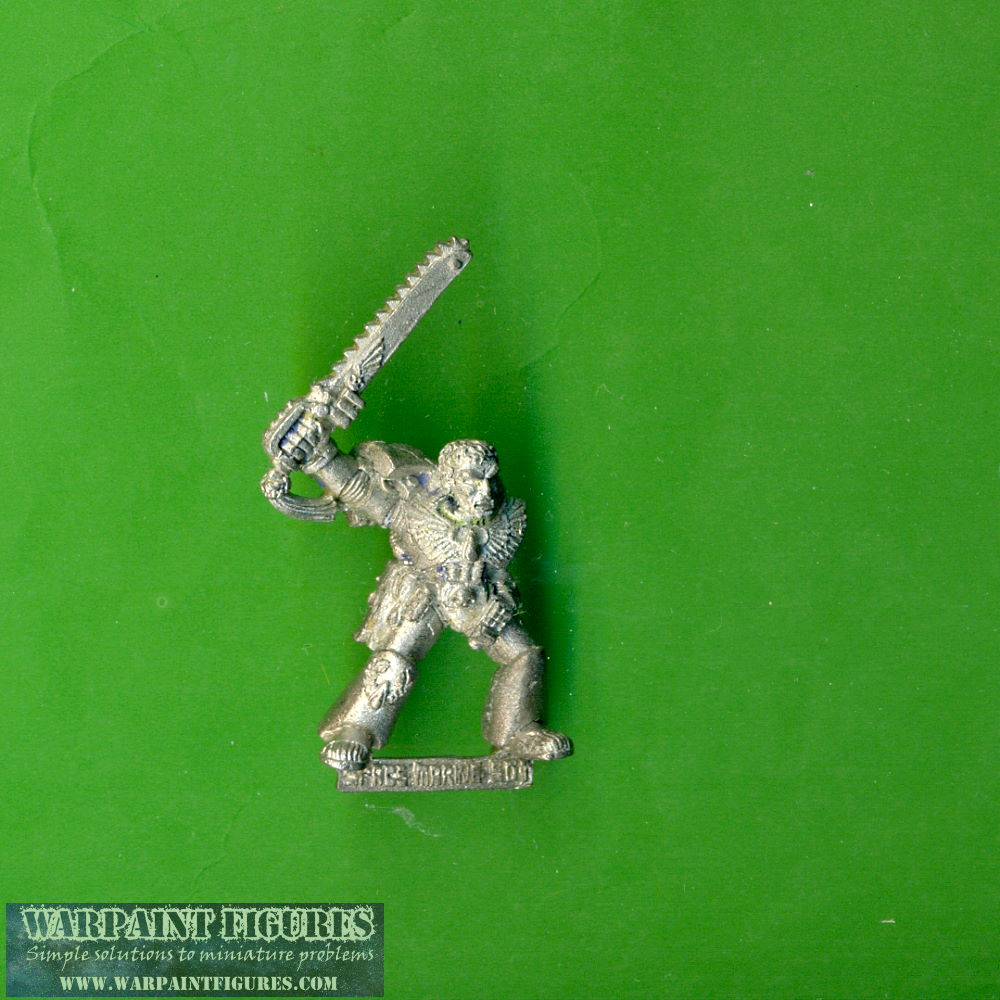Warpaint Figures - OOP Games Workshop 1992 40K 40000 Space Marines Sergeant