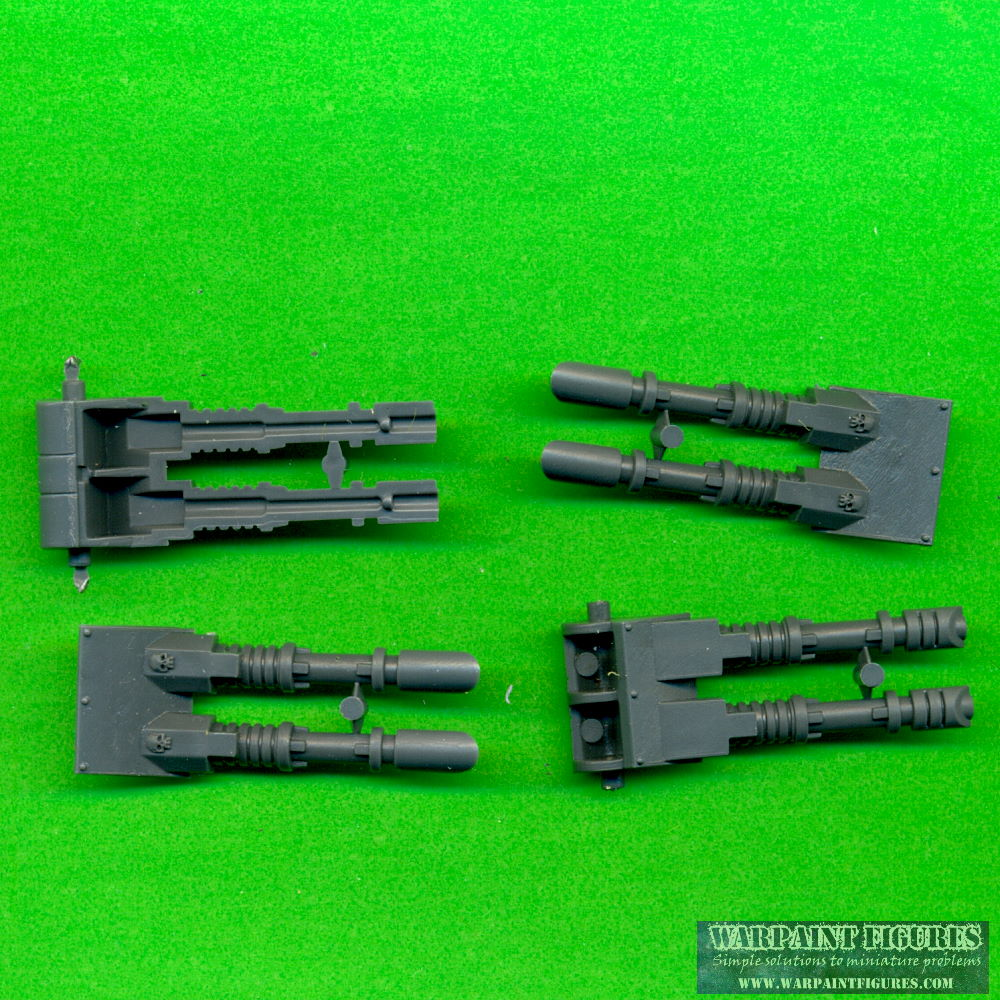 Warpaint Figures - Games Workshop Warhammer 40K Bits - Predator Turret Twin Las Cannons x 2