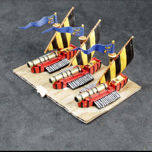 Warpaint Figures - OOP Classic Games Workshop Man O'War Empire Hellhammers x 3 - Metal and painted good table standard