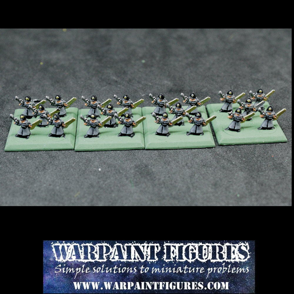 For Sale - Epic 40K Commisars Squad - Painted Imperial Guard Astra Militarium