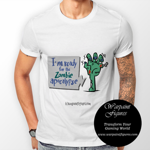 Men's Zombie T Shirt - I'm Ready For The Zombie Apocalypse