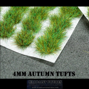 Warpaint Figures - 4mm Self Adhesive Grass Tufts Autumn for wargames, gaming, miniatures and terrain