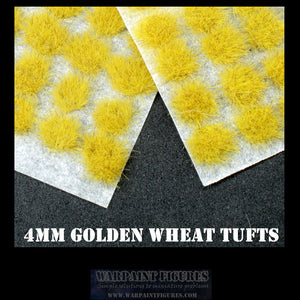 4mm Golden Wheat Self Adhesive Grass TUfts for Painted Wargames and Wargaming miniatures