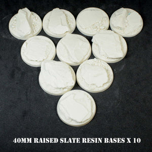40mm Raised Slate Resin Bases