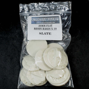 40mm Resin Slate Bases Basing Kit (Flat)