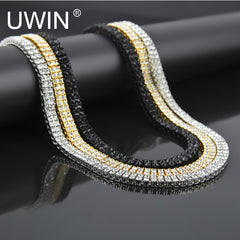 $34 Men's Gold Color Necklace Chain Zinc Alloy 2 Row Clear Crystal