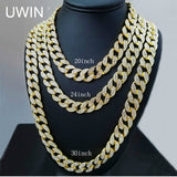 $39  Iced Out Bling Rhinestone Crystal Goldgen Finish Miami Cuban