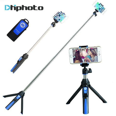 33inch Handheld & mini Tripod 3 in 1 Self-portrait Monopod Phone Selfie Stick w Bluetooth Remote for iPhone 8
