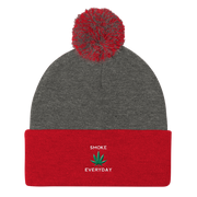 Smoke Everyday Pom Pom Beanie