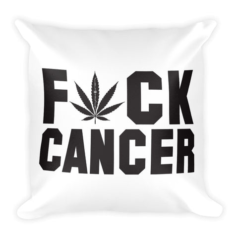 F*ck Cancer Square Pillow
