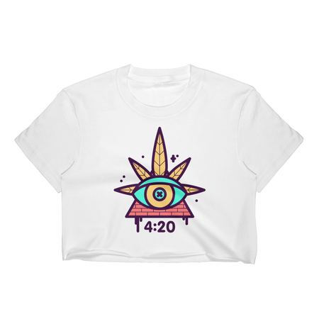 420 Clock Women's Crop Top