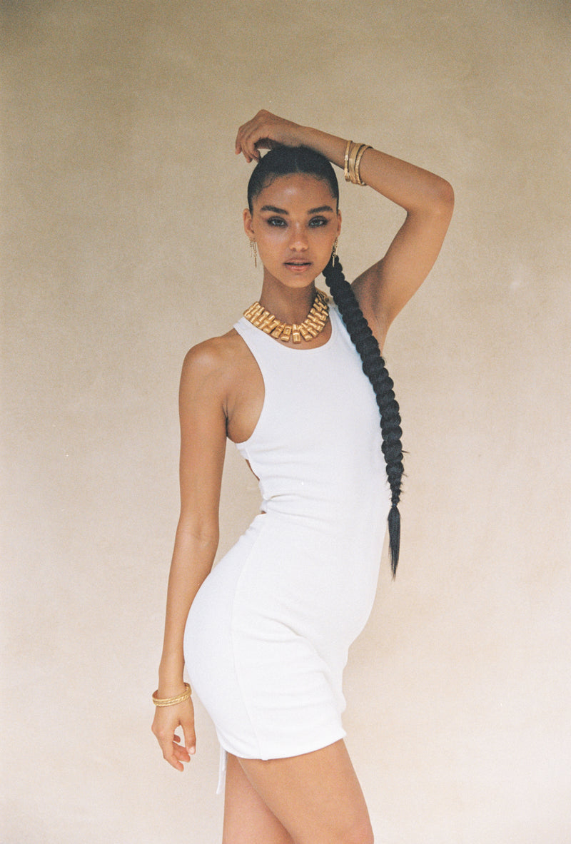 The Sahara Dress White
