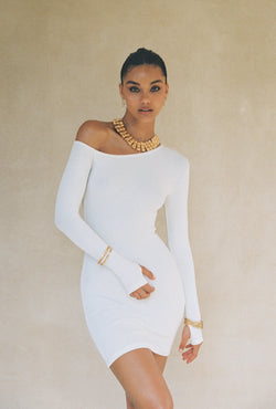The Lova Dress in White