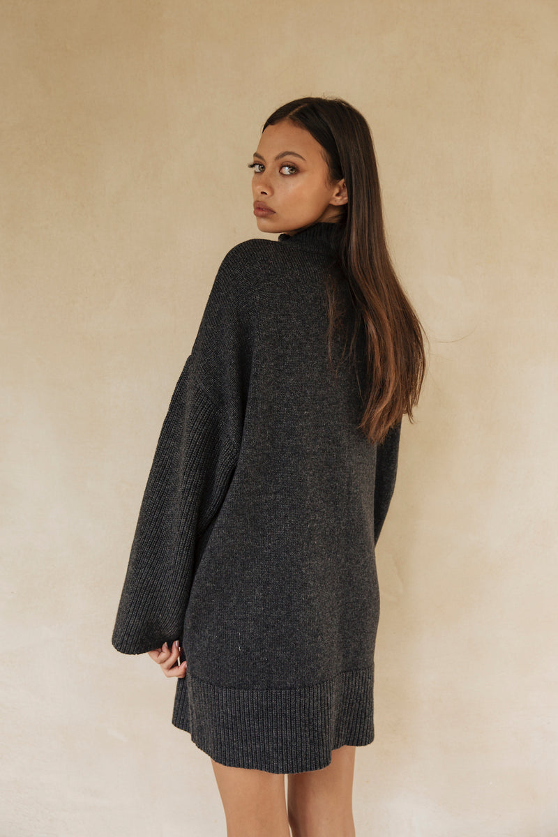 Nomma Jumper Dress Charcoal
