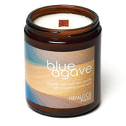 Blue Agave | Crackling Wood Wick Candle with Organic Coconut Wax