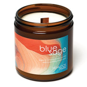 Blue Sage | Crackling Wood Wick Candle with Organic Coconut Wax