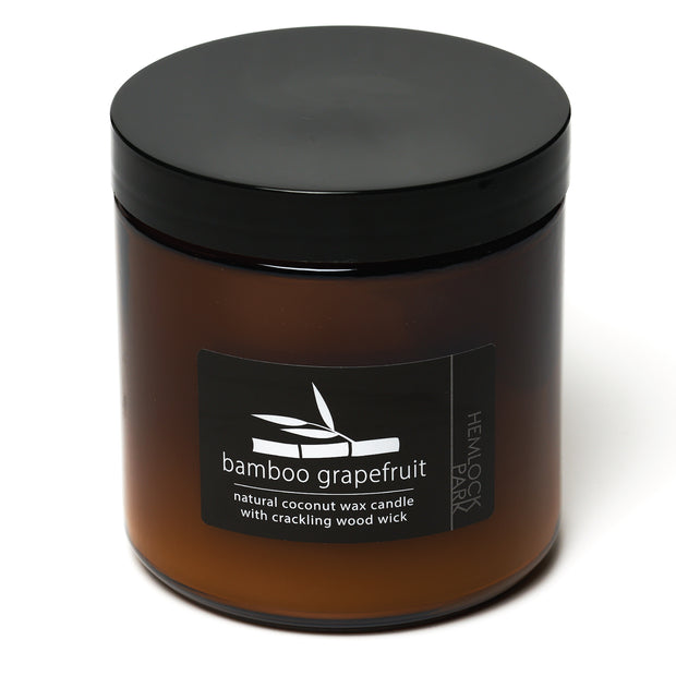 Bamboo Grapefruit | Crackling Wood Wick Candle with Organic Coconut Wax