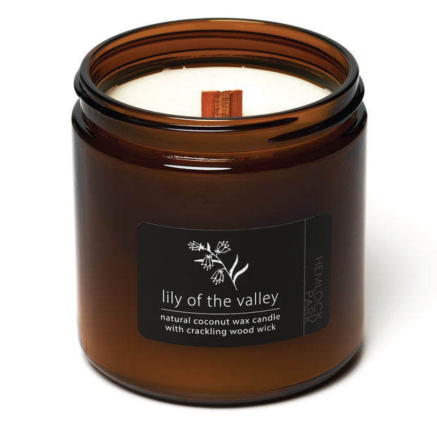 Lily of the Valley | Crackling Wood Wick Candle with Organic Coconut Wax