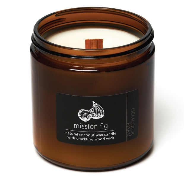 Mission Fig | Crackling Wood Wick Candle with Organic Coconut Wax