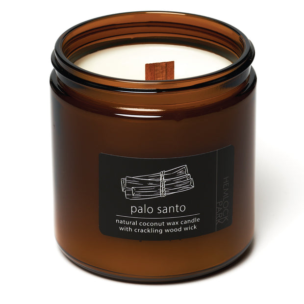Palo Santo | Crackling Wood Wick Candle with Organic Coconut Wax