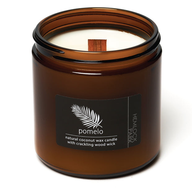 Pomelo Citrus | Crackling Wood Wick Candle with Organic Coconut Wax