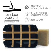 Bamboo Soap Dish | Black