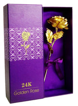 24k Gold Foil Plated Rose with Gift Box - Bohemian Lily