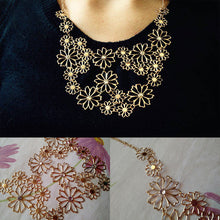 Gold Flower Necklace - Bohemian Lily