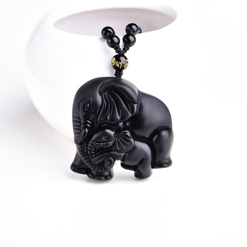 Mother and Baby Elephant Amulet - Family Collection - Bohemian Lily