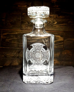 Celtic Knot Etched Crystal Decanter 750mL