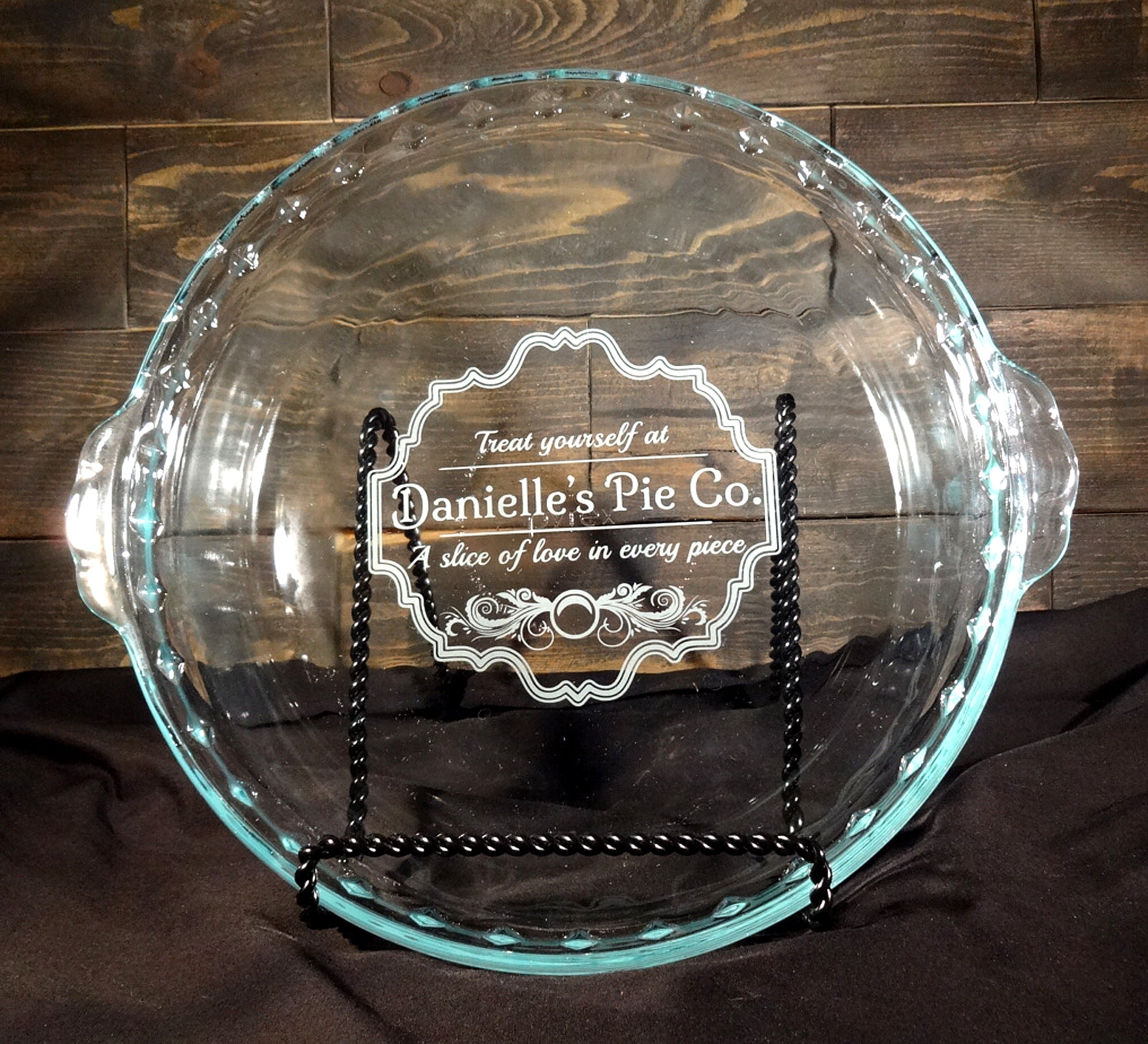 Give Thanks Pie Dish Pie Dish Free Shipping Engraved Pie Dish Gifts For Her Custom Engraved Pie Dish Baking Gift