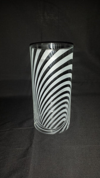 Illusion Etched Glass Vase