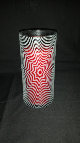 Illusion Etched Glass Vase, Starburst