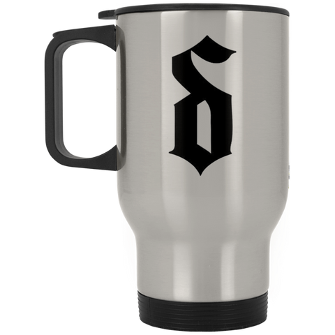 SD Silver Stainless Travel Mug