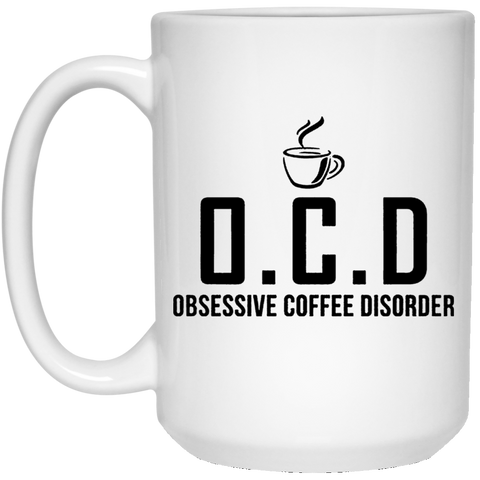 OCD 15 oz. White Mug